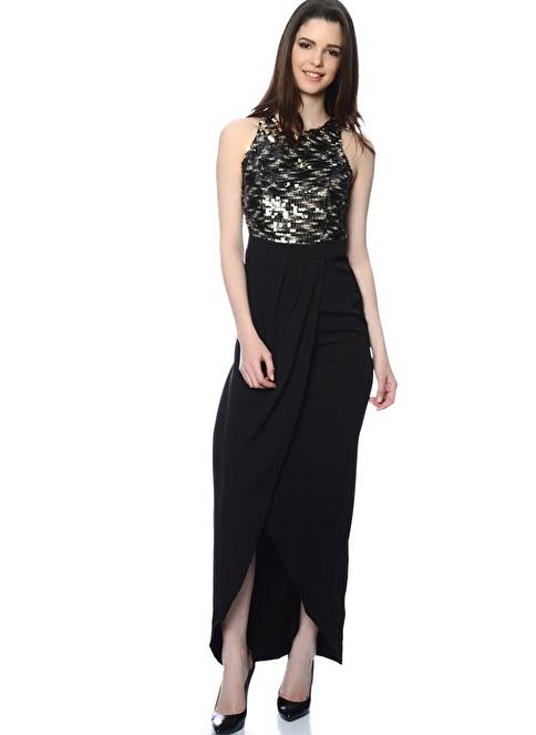 Lıttle Mıstress Uzun Abiye Elbise Siyah